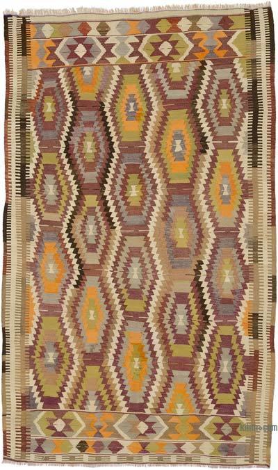 """Vintage Antalya Kilim Rug - 5' 7"""" x 8' 11"""" (67 in. x 107 in.)"""