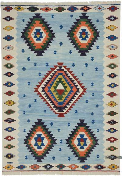 "New Handwoven Turkish Kilim Rug - 6'  x 8' 4"" (72 in. x 100 in.)"