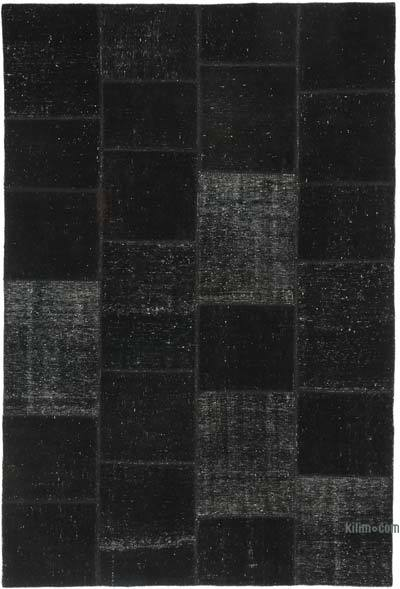 "Patchwork Hand-Knotted Turkish Rug - 6' 7"" x 9' 10"" (79 in. x 118 in.)"