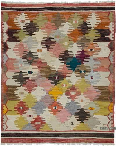 "New Handwoven Turkish Kilim Rug - 8' 6"" x 10' 7"" (102 in. x 127 in.)"