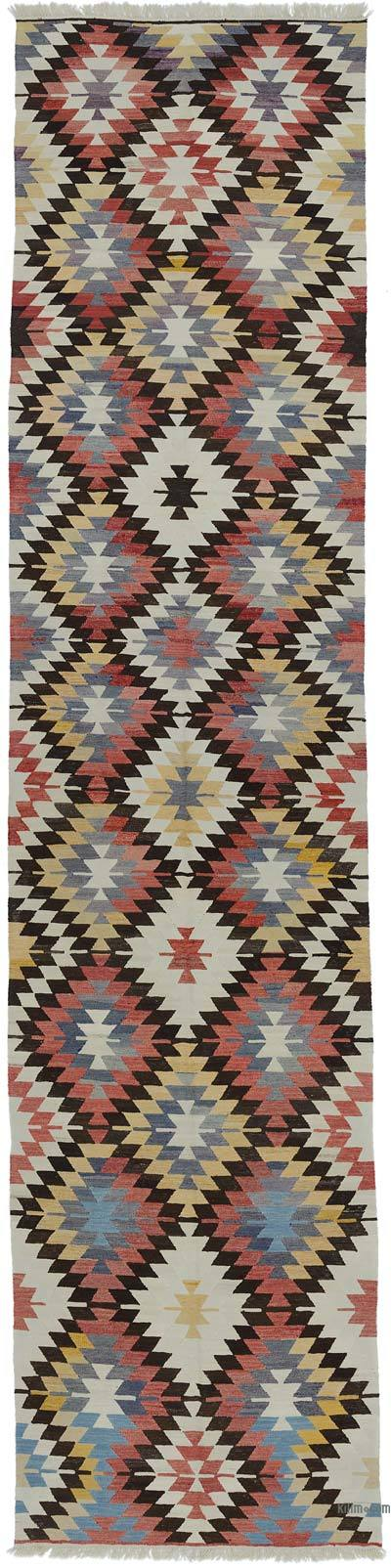 "New Handwoven Turkish Kilim Runner - 4' 6"" x 19' 3"" (54 in. x 231 in.)"