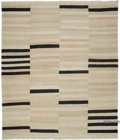 "New Handwoven Turkish Kilim Rug - 9' 1"" x 10' 8"" (109 in. x 128 in.)"