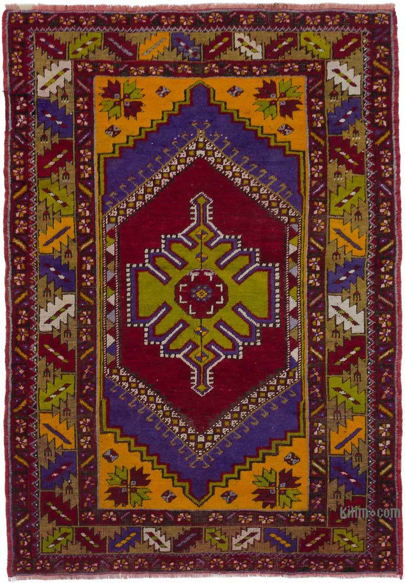 """Vintage Turkish Hand-Knotted Rug - 3' 9"""" x 5' 6"""" (45 in. x 66 in.) - K0050330"""