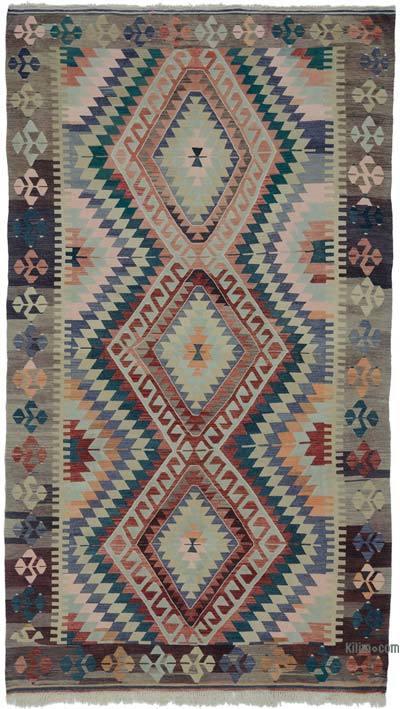 """Vintage Oushak Kilim Rug - 6' 6"""" x 11' 6"""" (78 in. x 138 in.)"""
