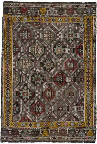 """Vintage Fethiye Jijim Rug - 5' 9"""" x 8' 2"""" (69 in. x 98 in.)"""