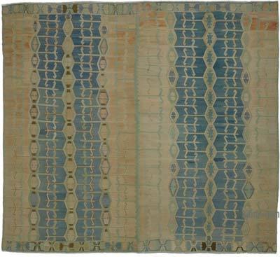 """Vintage Oushak Kilim Rug - 11' 6"""" x 12' 10"""" (138 in. x 154 in.)"""