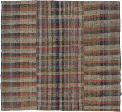 "Vintage Turkish Pala Kilim (Chaput) - 7' 11"" x 7' 3"" (95 in. x 87 in.)"