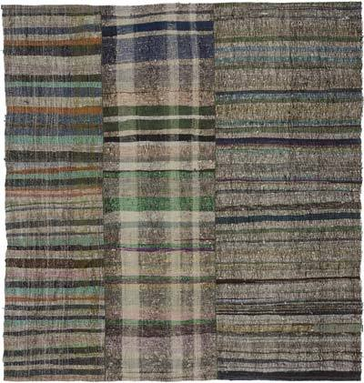 "Vintage Turkish Pala Kilim (Chaput) - 7' 6"" x 8' 1"" (90 in. x 97 in.)"