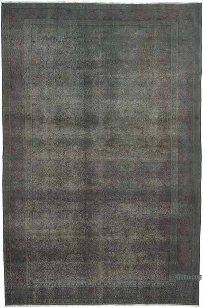 "Grey Over-dyed Turkish Vintage Rug - 6' 5"" x 9' 9"" (77 in. x 117 in.)"