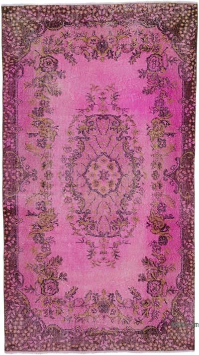 """Over-dyed Turkish Vintage Rug - 3' 10"""" x 6' 9"""" (46 in. x 81 in.)"""