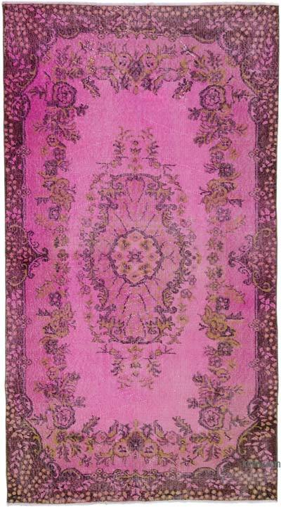 "Over-dyed Turkish Vintage Rug - 3' 10"" x 6' 11"" (46 in. x 83 in.)"