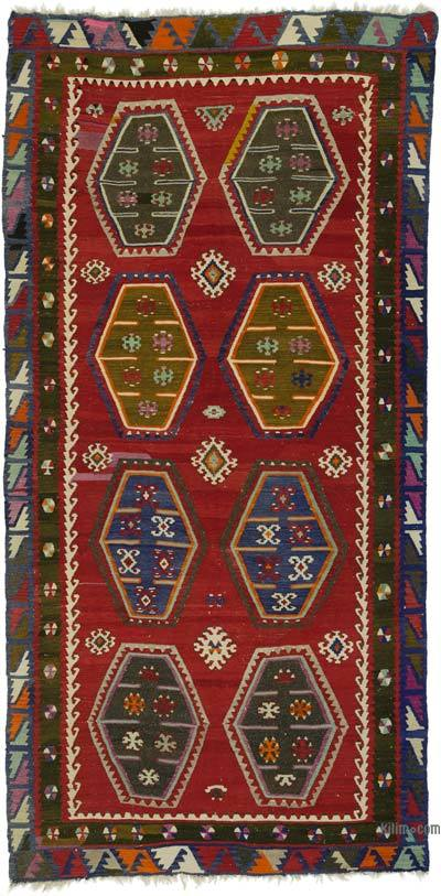 "Vintage Sarkisla Kilim Rug - 5'  x 10' 3"" (60 in. x 123 in.)"