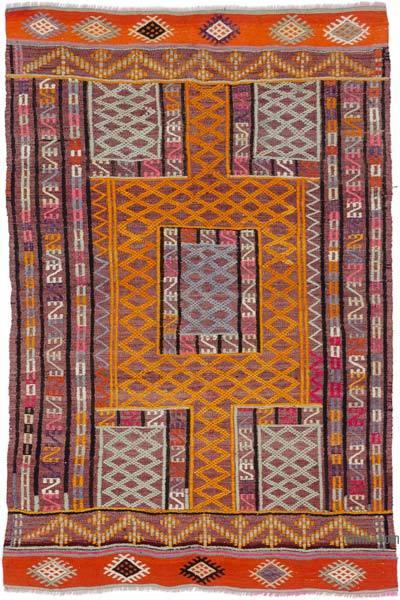 """Vintage Fethiye Jijim Rug - 3' 6"""" x 5' 1"""" (42 in. x 61 in.)"""
