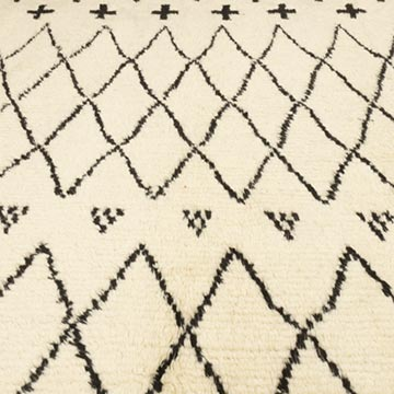 """Moroccan Style Hand-Knotted Tulu Rug - 9' 2"""" x 10' 10"""" (110 in. x 130 in.) - K0050450"""
