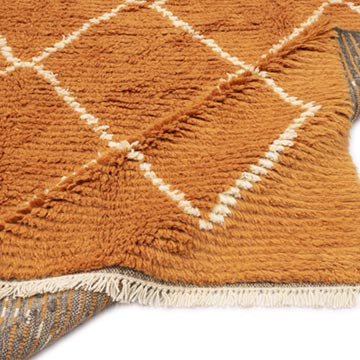 """Moroccan Style Hand-Knotted Tulu Rug - 6' 3"""" x 10' 5"""" (75 in. x 125 in.) - K0050456"""