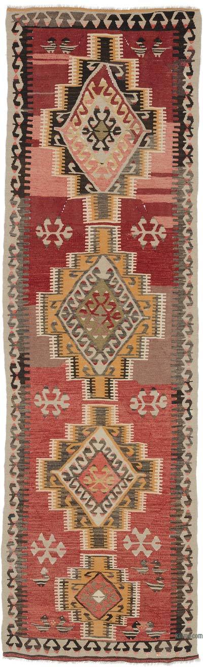 "Vintage Turkish Kilim Runner - 2' 7"" x 8' 8"" (31 in. x 104 in.)"