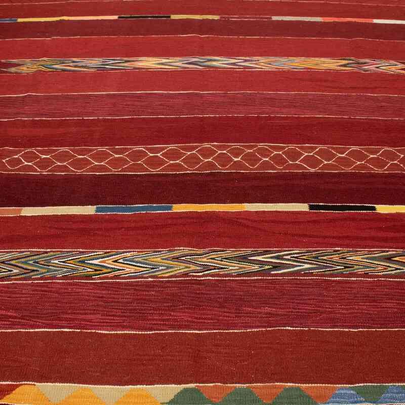 Kırmızı Yeni Kök Boya El Dokuma Kilim - 254 cm x 344 cm - K0050475
