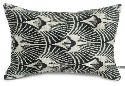 """Velvet Ikat Pillow Cover - 2'  x 1' 3"""" (24 in. x 15 in.)"""