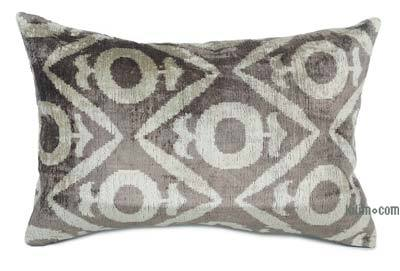 "Velvet Ikat Pillow Cover - 2'  x 1' 3"" (24 in. x 15 in.)"