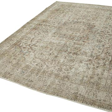 """Vintage Turkish Hand-Knotted Rug - 7' 5"""" x 10' 4"""" (89 in. x 124 in.) - K0050553"""