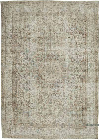"""Vintage Turkish Hand-knotted Area Rug - 7' 5"""" x 10' 4"""" (89 in. x 124 in.)"""