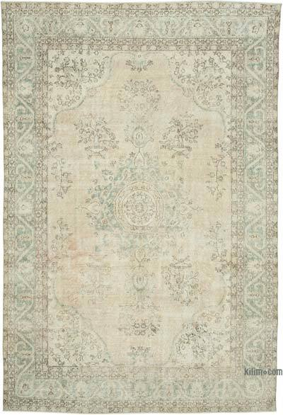 """Vintage Turkish Hand-knotted Area Rug - 7'  x 10' 5"""" (84 in. x 125 in.)"""