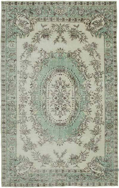 """Vintage Turkish Hand-knotted Area Rug - 5' 10"""" x 9' 2"""" (70 in. x 110 in.)"""