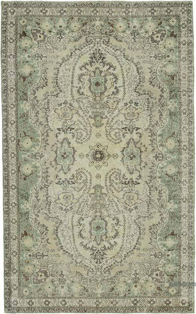 "Vintage Turkish Hand-knotted Area Rug - 6' 5"" x 10' 5"" (77 in. x 125 in.)"