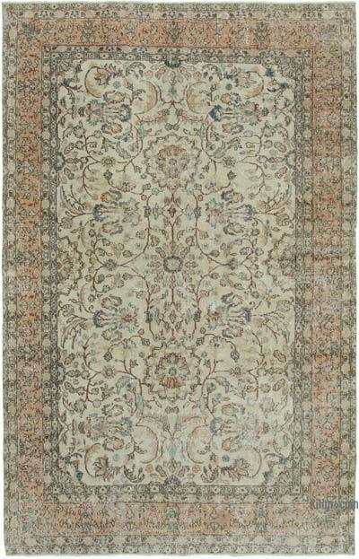 """Vintage Turkish Hand-knotted Area Rug - 6' 7"""" x 10' 2"""" (79 in. x 122 in.)"""