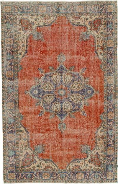 "Vintage Turkish Hand-knotted Area Rug - 6' 2"" x 9' 7"" (74 in. x 115 in.)"
