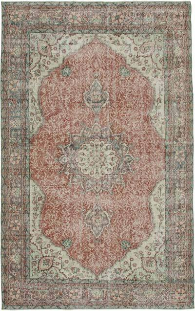 "Vintage Turkish Hand-knotted Area Rug - 6' 5"" x 9' 11"" (77 in. x 119 in.)"