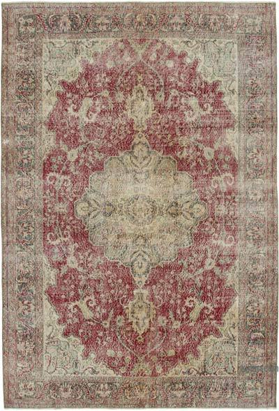 "Vintage Turkish Hand-knotted Area Rug - 6' 10"" x 10'  (82 in. x 120 in.)"