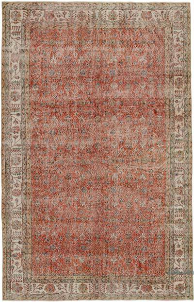"Vintage Turkish Hand-knotted Area Rug - 6' 7"" x 10' 2"" (79 in. x 122 in.)"