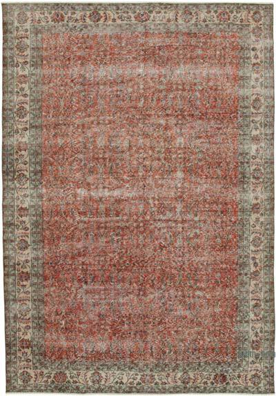 "Vintage Turkish Hand-knotted Area Rug - 6' 9"" x 9' 9"" (81 in. x 117 in.)"
