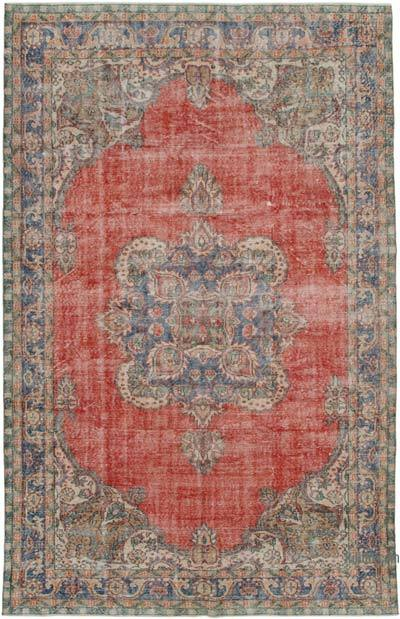"Vintage Turkish Hand-knotted Area Rug - 6' 8"" x 10' 5"" (80 in. x 125 in.)"