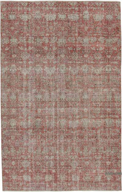 """Vintage Turkish Hand-knotted Area Rug - 6'  x 9' 4"""" (72 in. x 112 in.)"""