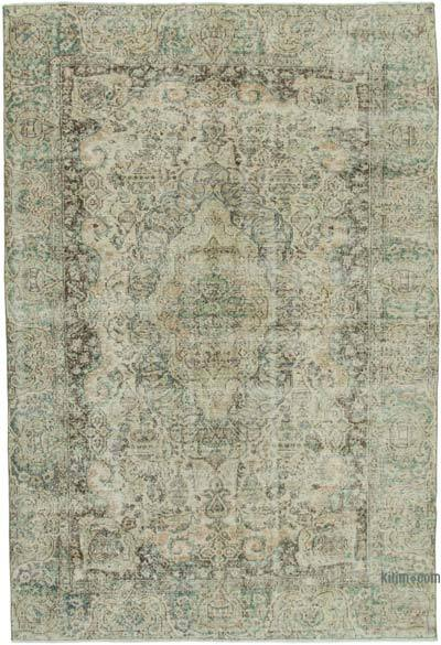 """Vintage Turkish Hand-knotted Area Rug - 6' 6"""" x 9' 5"""" (78 in. x 113 in.)"""