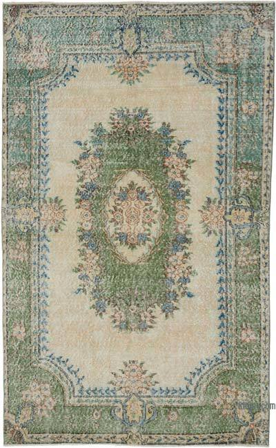 """Vintage Turkish Hand-knotted Area Rug - 5' 1"""" x 8' 7"""" (61 in. x 103 in.)"""