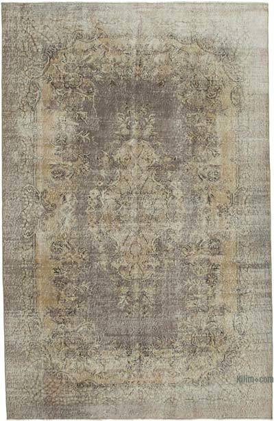 """Vintage Turkish Hand-knotted Area Rug - 6' 6"""" x 10' 2"""" (78 in. x 122 in.)"""
