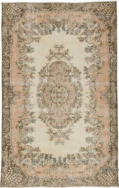 "Vintage Turkish Hand-knotted Area Rug - 6' 5"" x 10' 1"" (77 in. x 121 in.)"