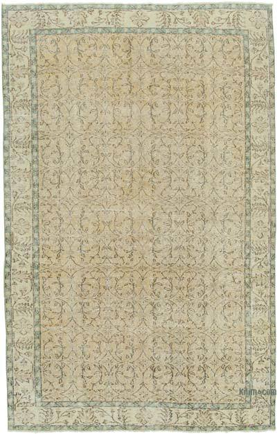 """Vintage Turkish Hand-Knotted Rug - 5' 9"""" x 8' 11"""" (69 in. x 107 in.)"""