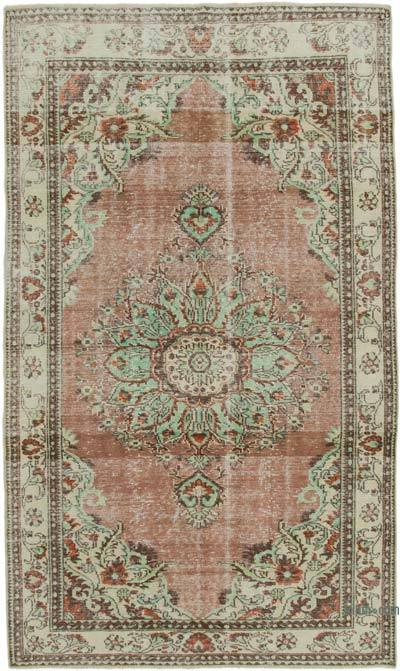 "Vintage Turkish Hand-knotted Area Rug - 6' 2"" x 10' 8"" (74 in. x 128 in.)"