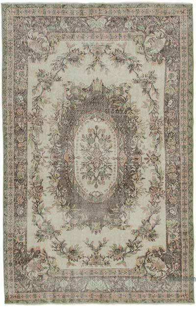 """Vintage Turkish Hand-knotted Area Rug - 6' 4"""" x 10'  (76 in. x 120 in.)"""