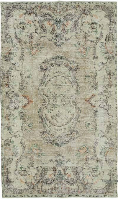 """Vintage Turkish Hand-knotted Area Rug - 6' 5"""" x 10' 10"""" (77 in. x 130 in.)"""