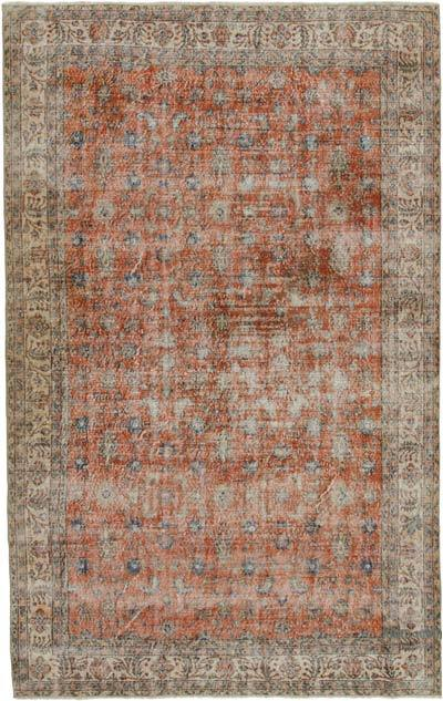 "Vintage Turkish Hand-knotted Area Rug - 6' 7"" x 10' 5"" (79 in. x 125 in.)"