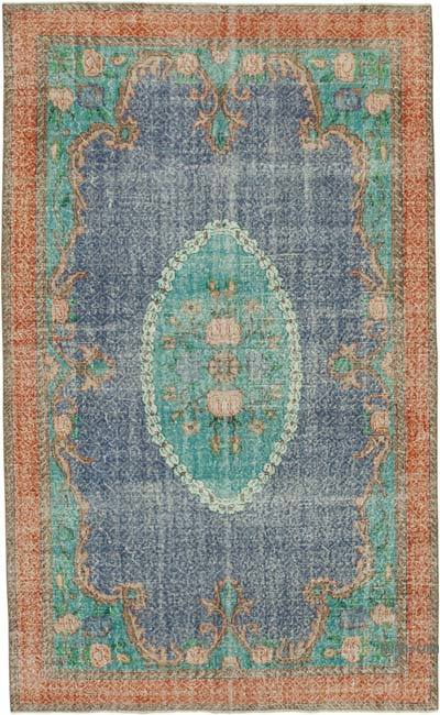 """Vintage Turkish Hand-knotted Area Rug - 6' 3"""" x 10' 4"""" (75 in. x 124 in.)"""