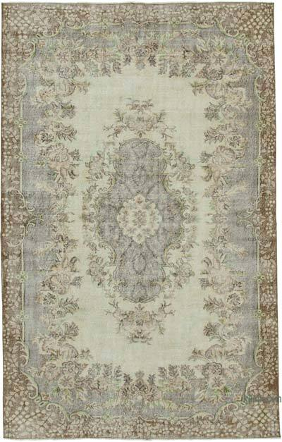 """Vintage Turkish Hand-Knotted Rug - 6' 6"""" x 10' 4"""" (78 in. x 124 in.)"""