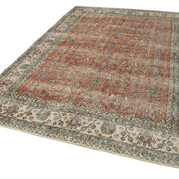 """Vintage Turkish Hand-Knotted Rug - 6' 10"""" x 10'  (82 in. x 120 in.) - K0050638"""