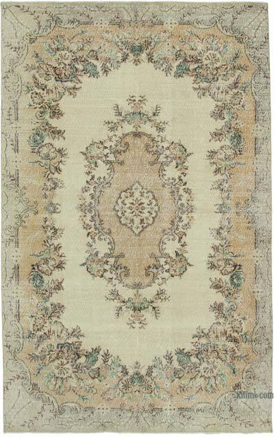 """Vintage Turkish Hand-knotted Area Rug - 6' 7"""" x 10' 6"""" (79 in. x 126 in.)"""