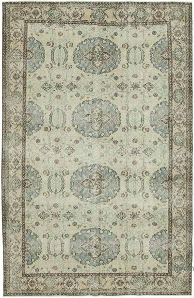 """Vintage Turkish Hand-knotted Area Rug - 6' 7"""" x 10'  (79 in. x 120 in.)"""